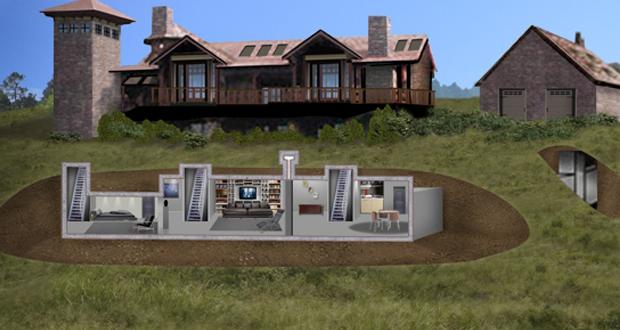 Cómo construir un búnker de supervivencia en el jardín | Casas  subterráneas, Habitaciones ocultas en casas, Arquitectura