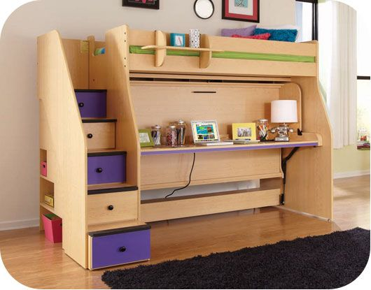 bunk bed with murphy bed on bottom when not being used as bed - Murphy Bed With Desk