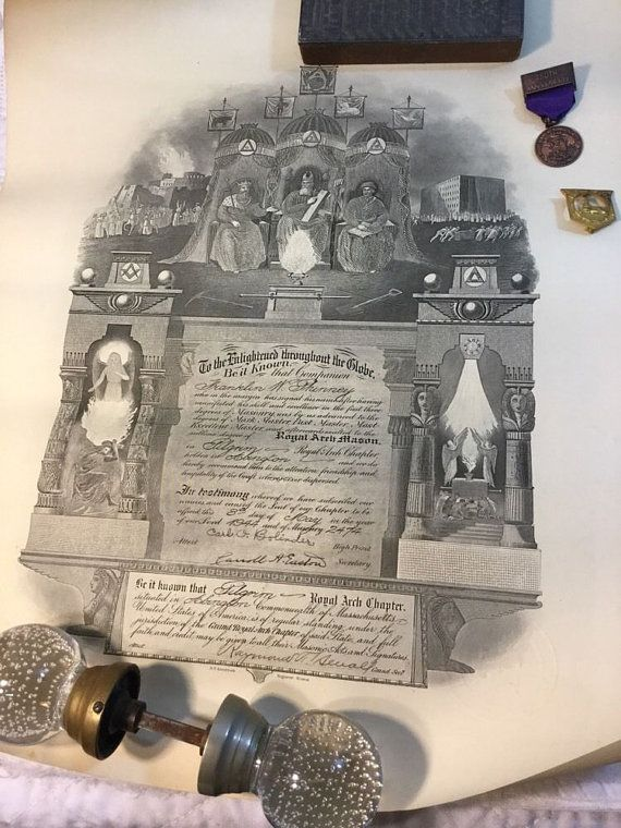 Vintage Masonic KNIGHT TEMPLAR Relics from Boston Masonic