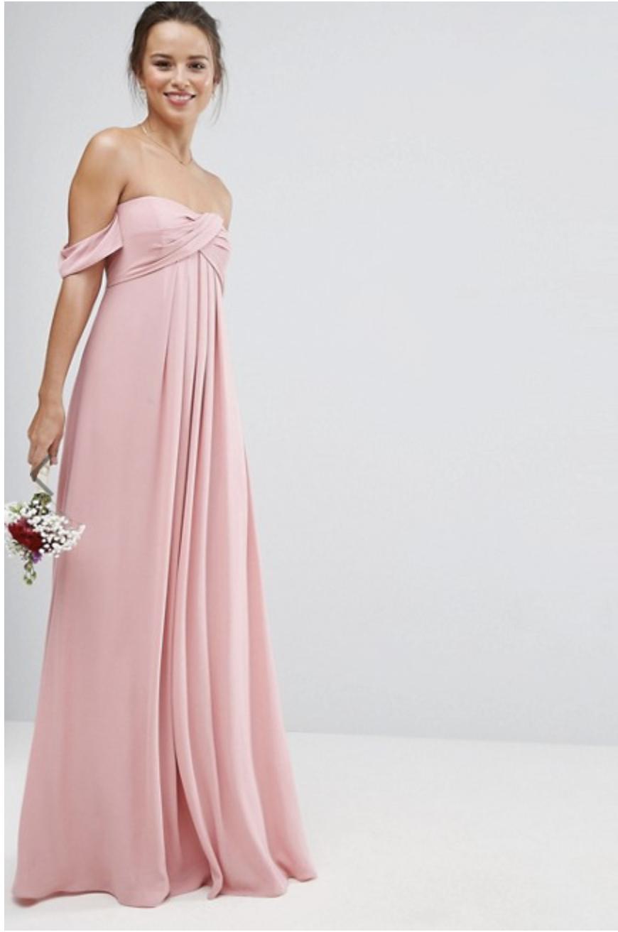 6191c3b5bc143 Asos Dress, Bride Gowns, Pink Bridesmaid Dresses Long, Wedding Bridesmaid  Dresses, Wedding