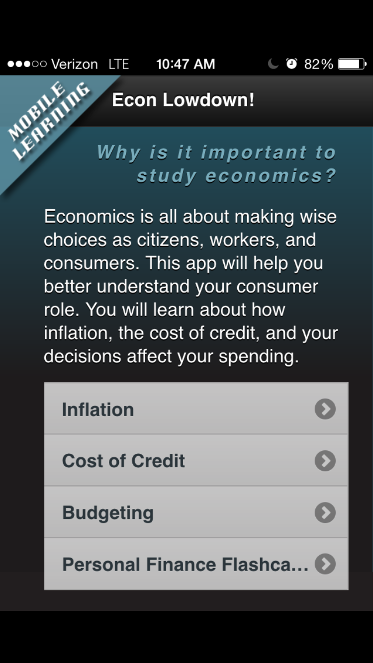Download the Econ Ed Mobile Learning App from the St  Louis Fed