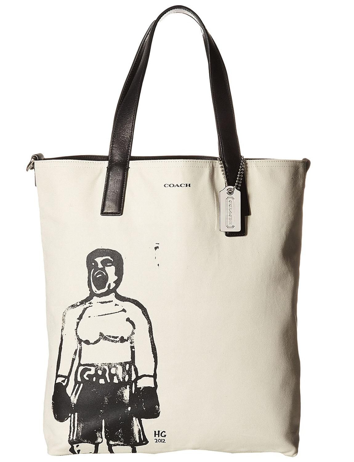 Coach 70611 Hugo Guinness Large Leather Mens Reversible Boxer Multicolor  Tote Bag. Get one of the hottest styles of the season! 1a23f7ff18ba1