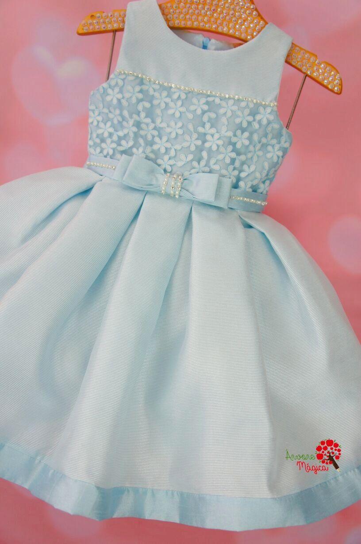 Vestido azul florido infantil