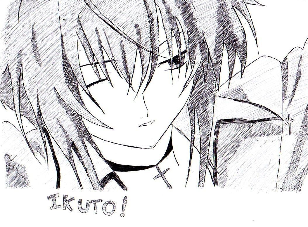 Ikuto!  Fait au stylo avec modele (toujours) et à main levé.