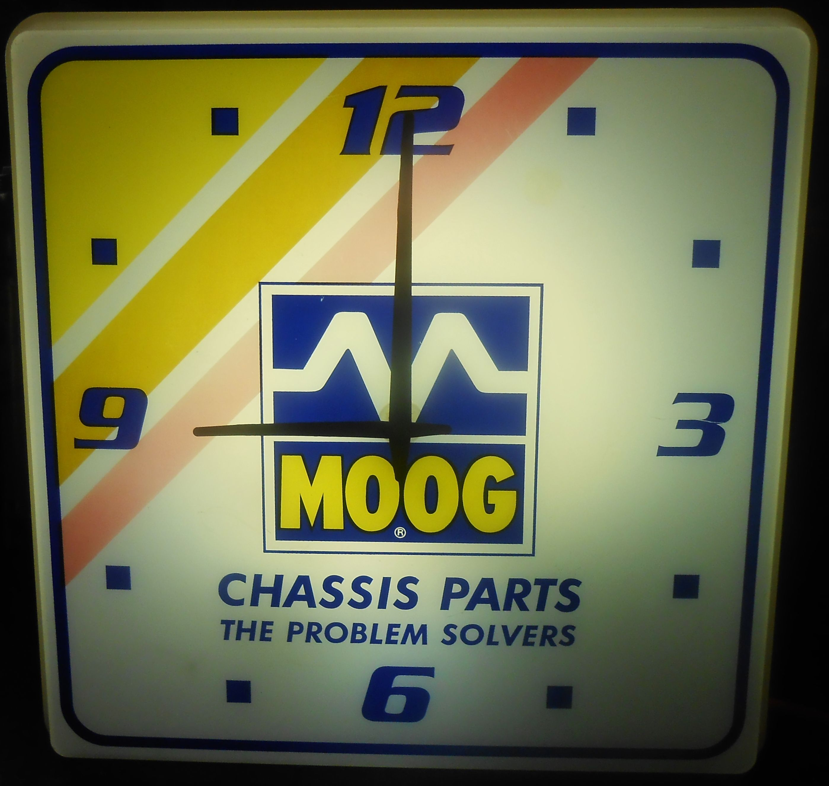 Vintage MOOG CHASSIS PARTS Services Station Lighted Clock