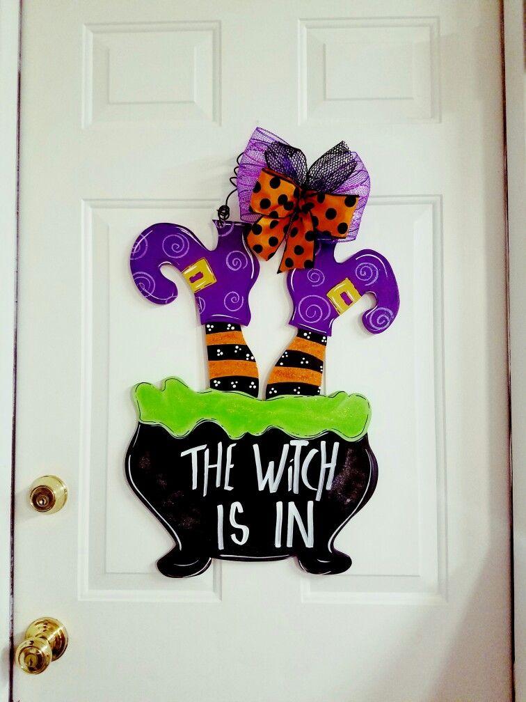 Halloween Door Hanger Halloween Door Halloween Door Hangers Halloween Wood Crafts