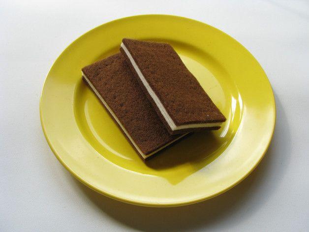 Küchenzubehör Kinderküche ~ Milchschnitte aus filz 2 st milchschnitte kinderküche und kaufladen