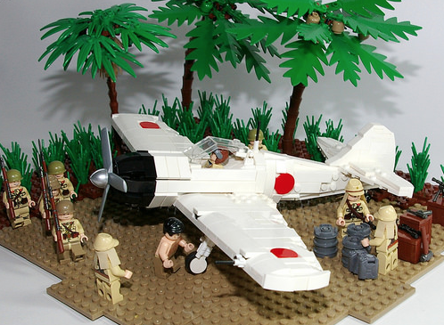 Mitsubishi A6M Zero in Lego form    WWII in the Pacific   Lego ww2