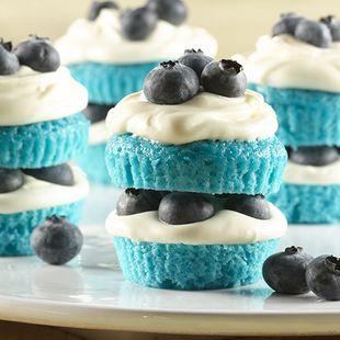 Blue Velvet Mini Shortcakes Recipe Blue velvet Minis and Cake