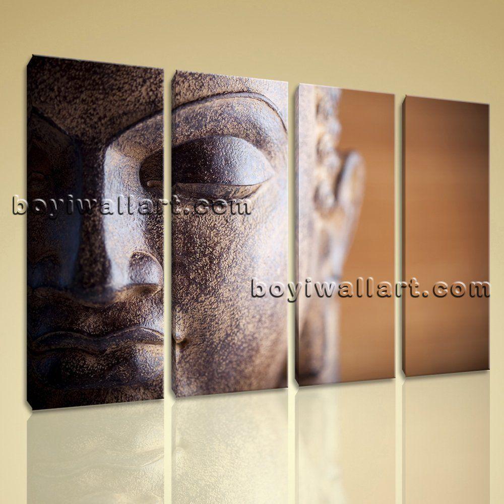 Buddha Head Decor Large Canvas Prints Fengshui Zen Art Home Wall Decor Contemporary