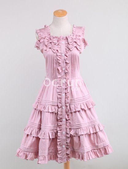 Light Rosa Baumwolle Sweet Lolita Kleid