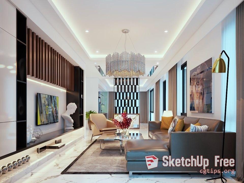 2102 Interior Livingroom Scene Sketchup Model Free Download Living Room Interior Sketchup Model Sketchup Model Free