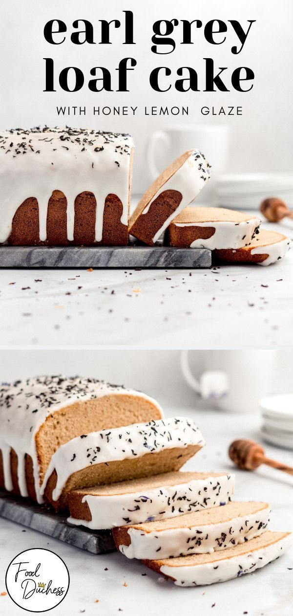 This Earl Grey Loaf Cake features an light, semi-spongey crumb that is moist and tender in texture.
