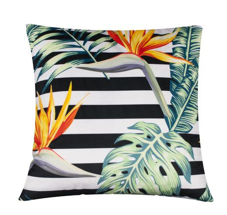 Great Tropical Paradise Decorative Throw Cushion Green 20 In X 20