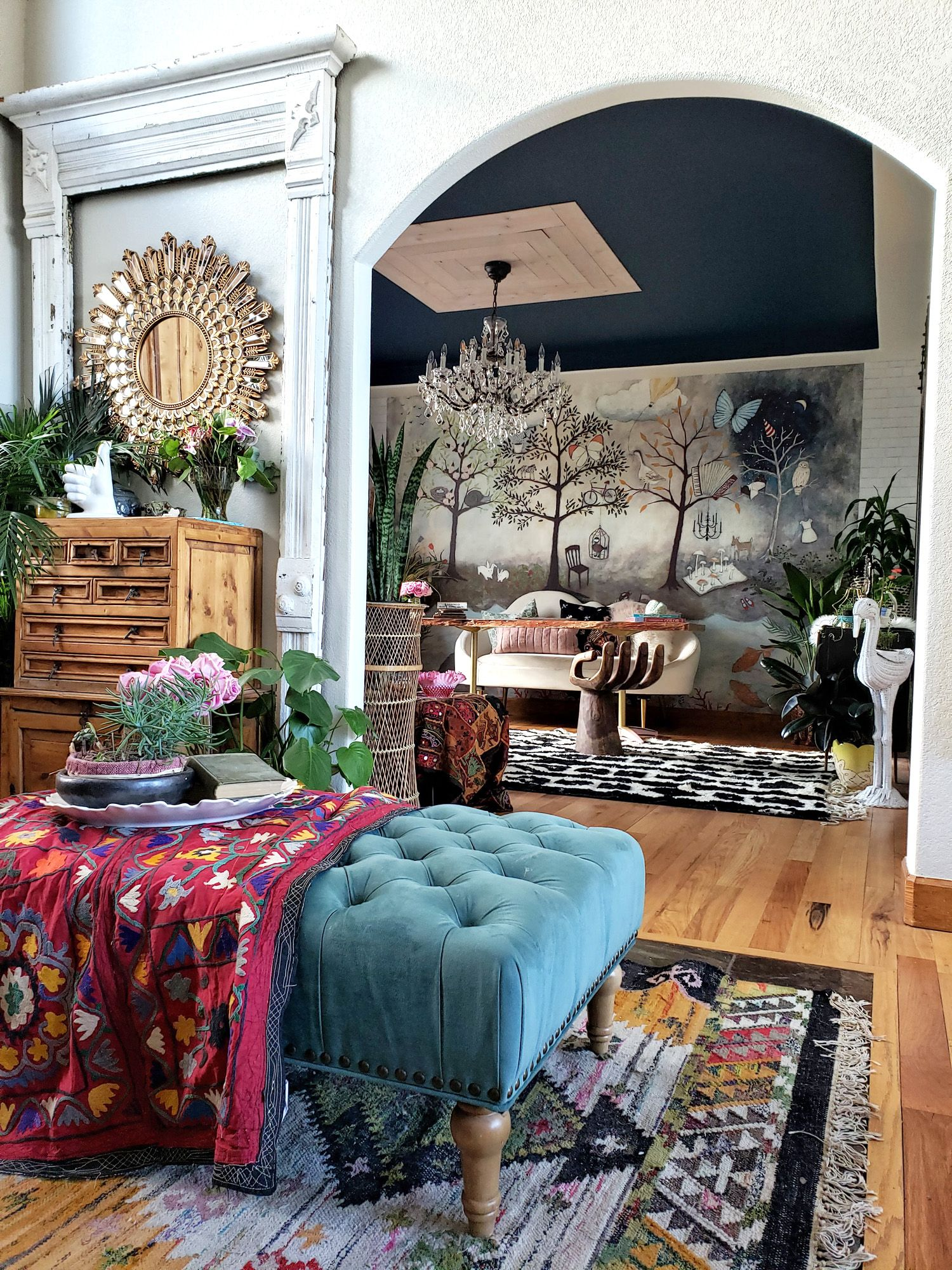 The Sophisticated Whimsical Home Office Orc Sources Eclectic Twist Whimsical Home Eclectic Home Eclectic Interior Whimsical living room decor