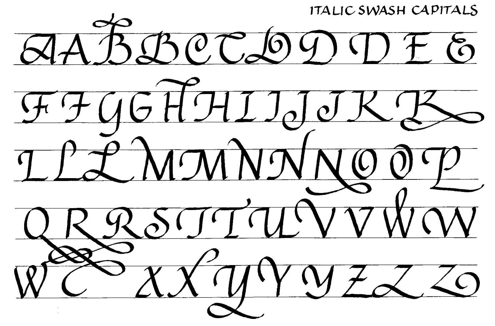 Margaret Shepherd Calligraphy Blog 170 Swash Italic Capitals