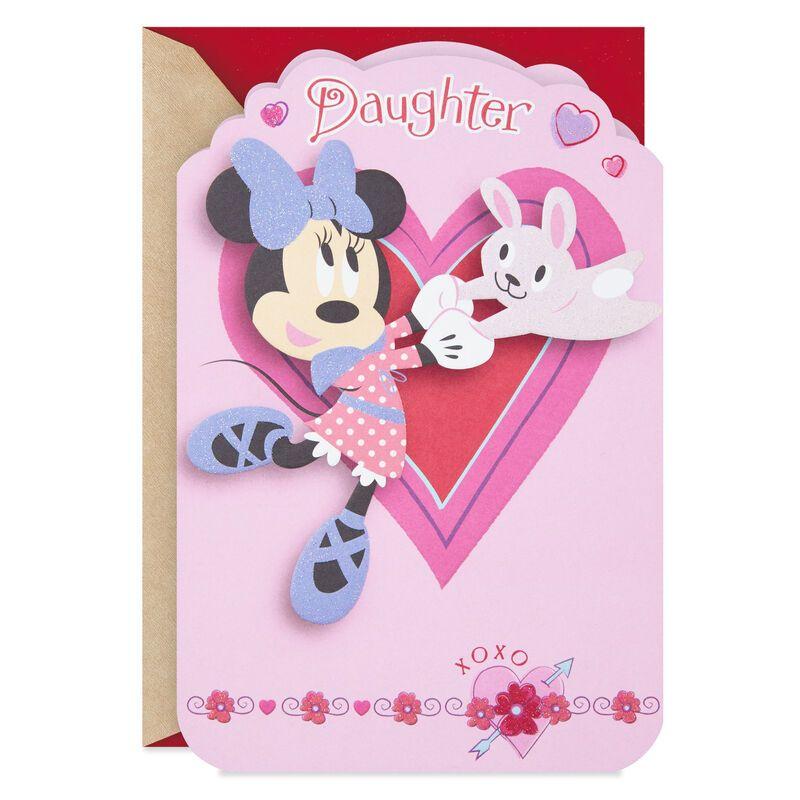 Disney Minnie Mouse Fun Daughter Valentine S Day Card