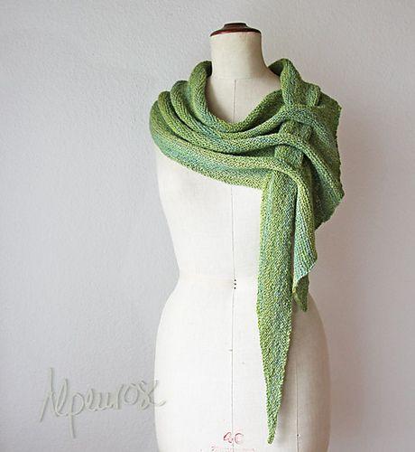 Free knitting pattern for shawl Pfeilraupe pattern by Alpi Alpenrose ...