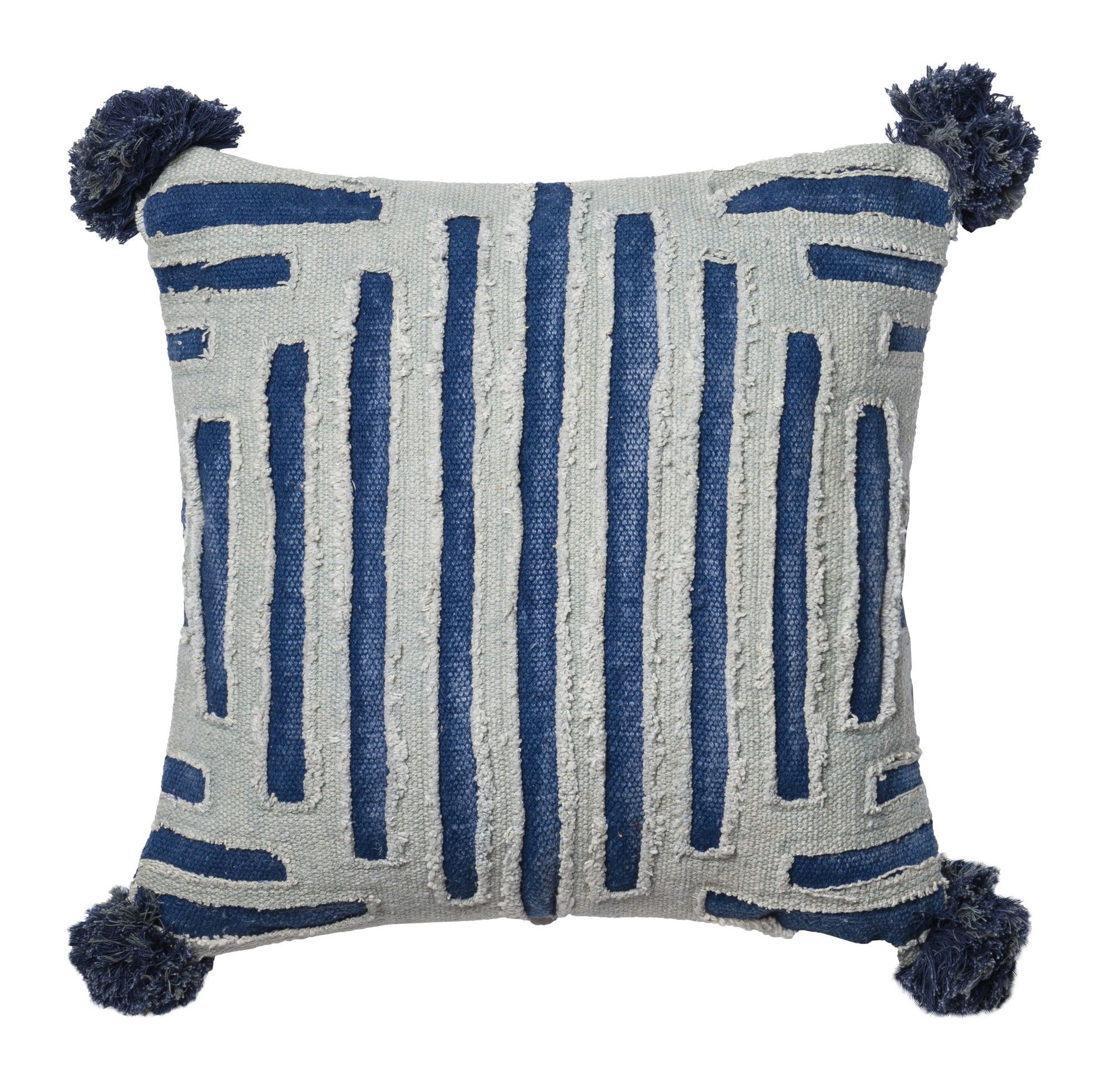 pillow grey navy throw large stripe carousel designs windsor blue pillows accent striped ticking