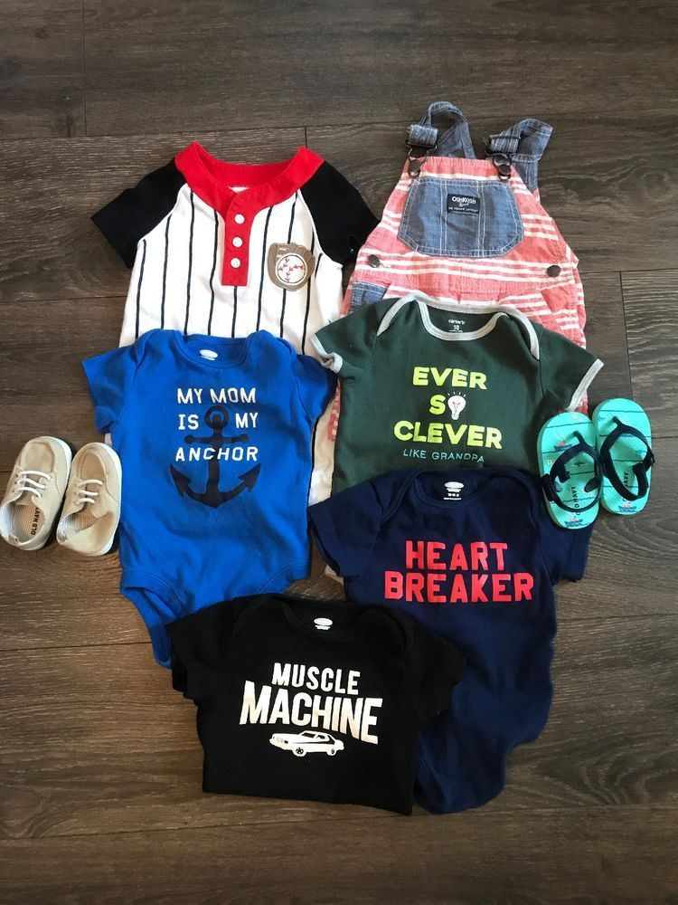 baa9eb2ffee5 Baby Toddler Boy Lot 12-18 Months Shirts Shorts Spring Summer Old ...