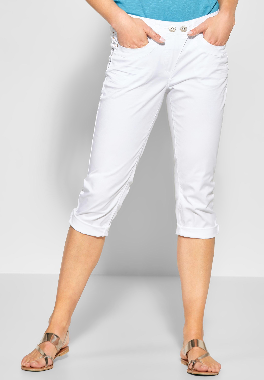 herren stylistisches Aussehen zahlreich in der Vielfalt CECIL - Dekorierte 7/8 Hose New York in White in 2019 ...