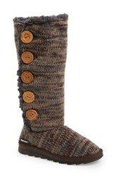 MUK LUKS 'Malena' Button Up Crochet Boot (Women)