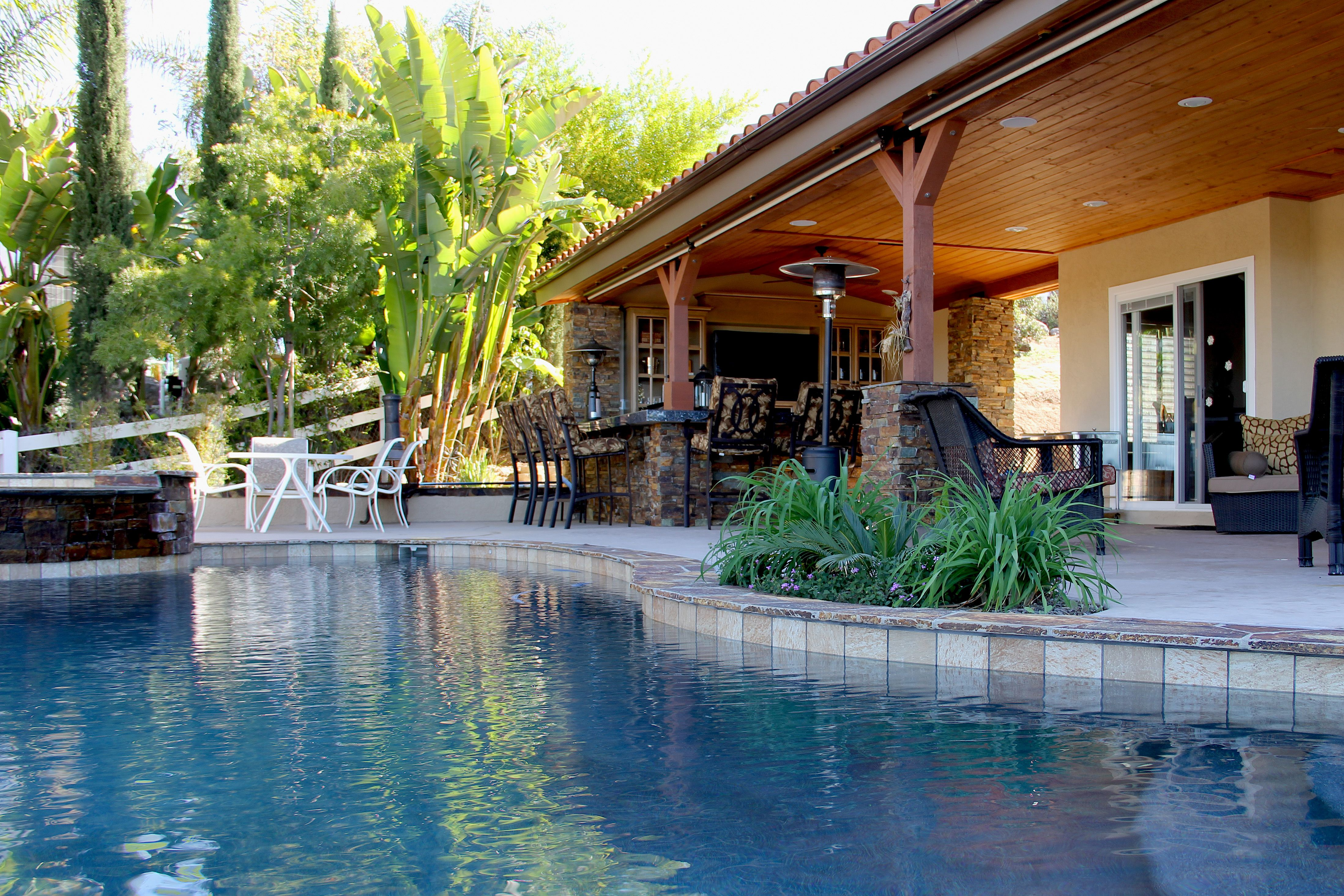 Swimming Pool Outdoor Kitchen Outdoor Living Room Full Circle