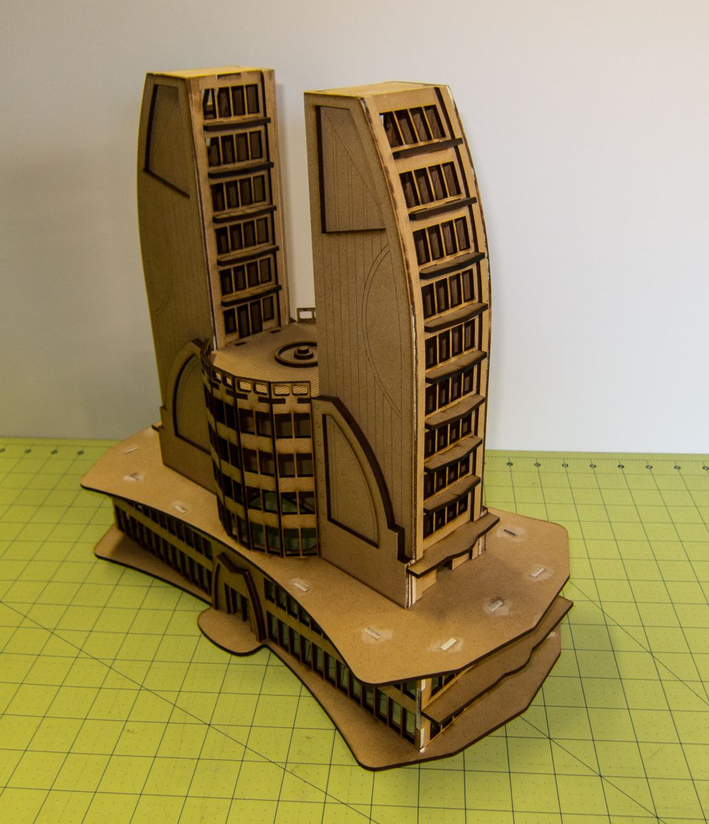 10mm Ultra Modern Future City Building Double Tower 10mmdf501 City Building Future City Sci Fi Architecture