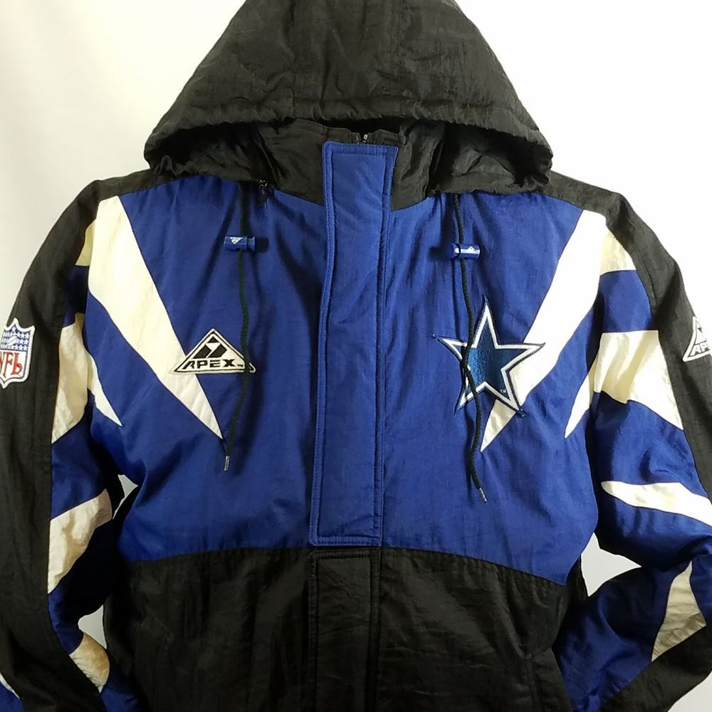 Dallas Cowboys Jacket Coat NFL Pro Line Apex One Vtg 90s  ApexOne   DallasCowboys 34c53bcc1