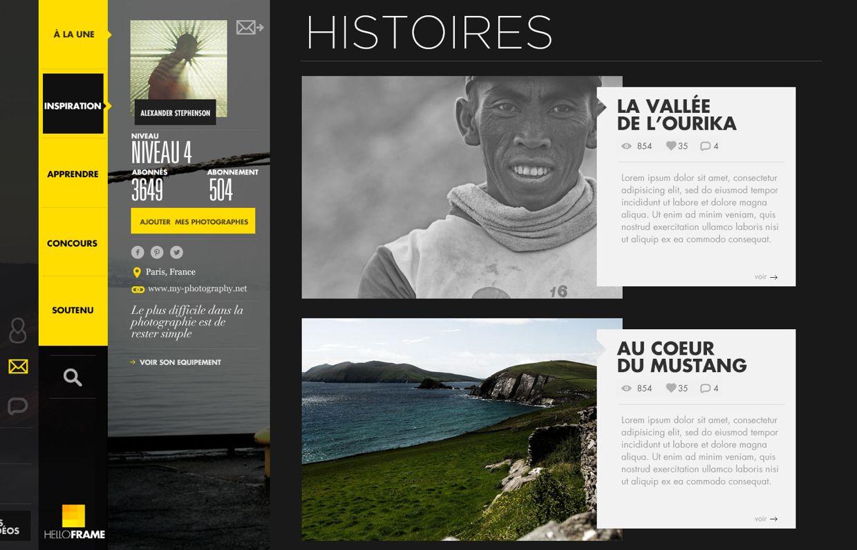 YELLOW FRAME on Behance Frame, Web design, Digital design