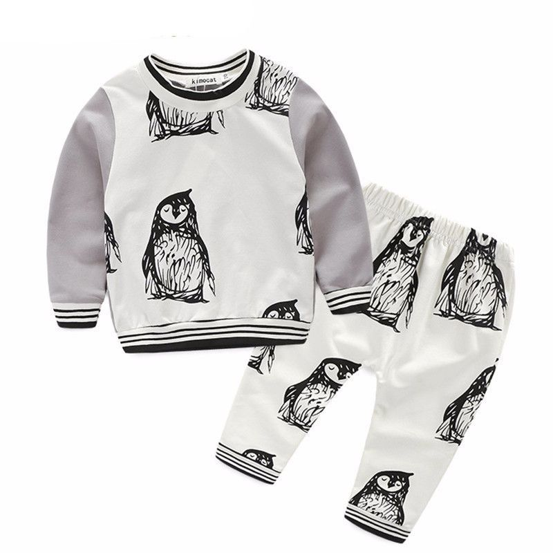 Long Sleeve Penguin 2 Piece Set Baby Clothing Pinterest