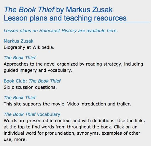The Book Thief Lesson Plan Web English Teacher Survival Essay