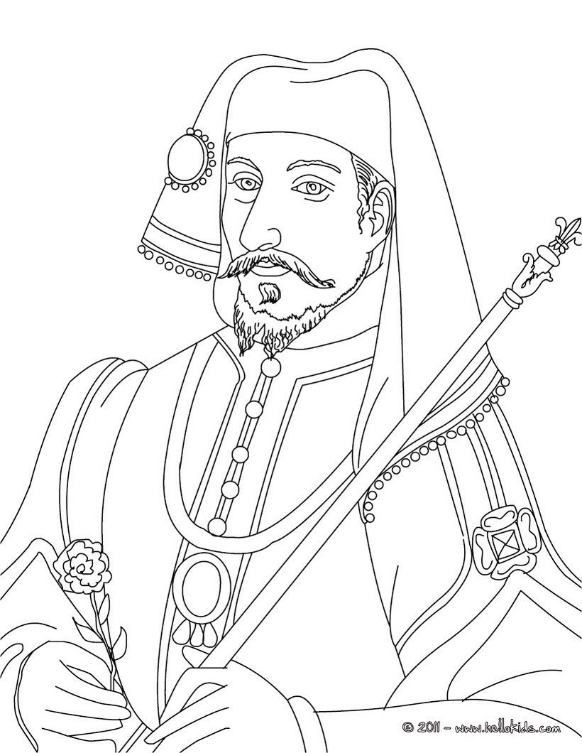 French Kings And Queens Coloring Pages Henry Iv King Of France Coloring Pages People Coloring Pages Color