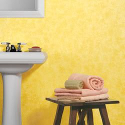 Painting With A Sponge Effect Sponge Paint Finish Yellow Walls