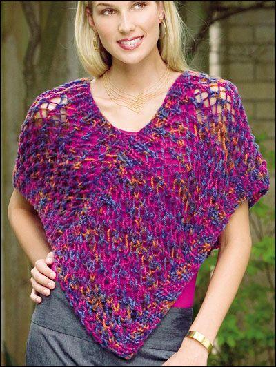 Quick Easy Ponchos Crochet Patterns 1 2 3 Stitch Crochet