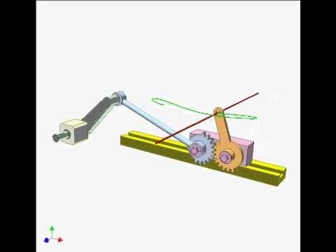 Gear Slider Crank Mechanism 1 Youtube Movement