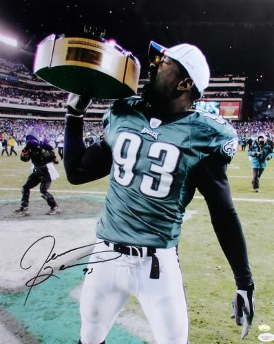 Jevon Kearse Autographed 16x20 Photo with Trophy - JSA  SportsMemorabilia   PhiladelphiaEagles 37b239be4