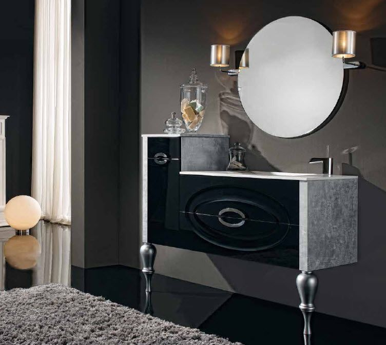 Mueble De Ba O Nadir Color Negro Brillo Y Costados