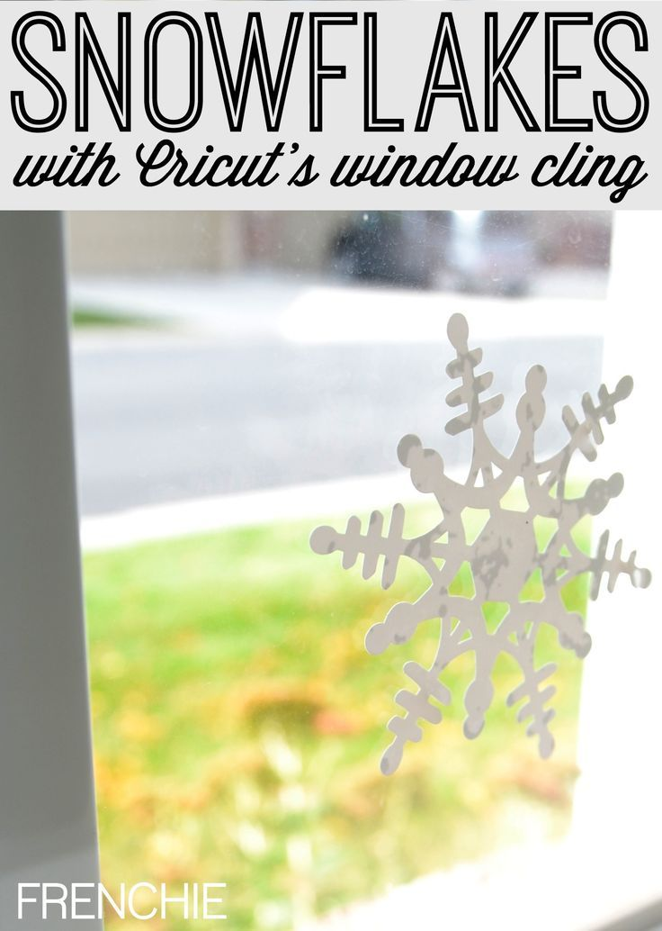 Photo of Cut Snowflake Window Cling with Cricut