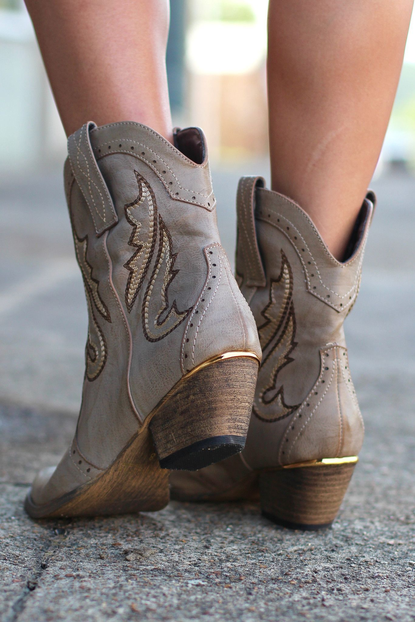 84d6571bf69 Markie Western Cowgirl Bootie {Stone} by VERY VOLATILE   Fashion ...