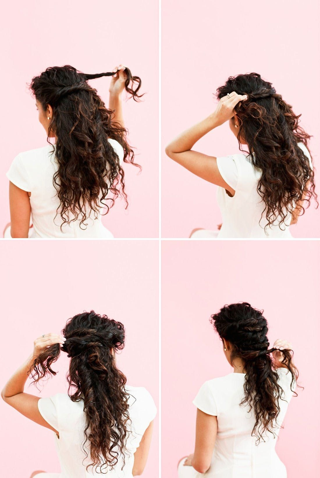 Braiding newbies will love this easy step hairstyle rope braid