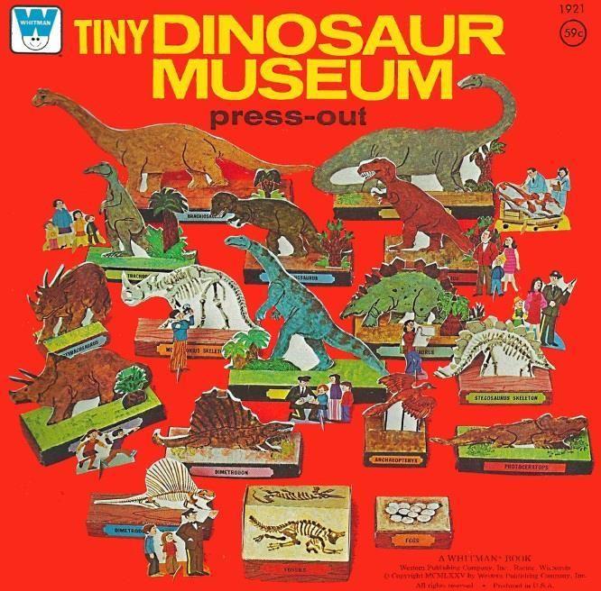 PAPERMAU: 1975`s Tiny Dinosaur Museum Playset Paper Model