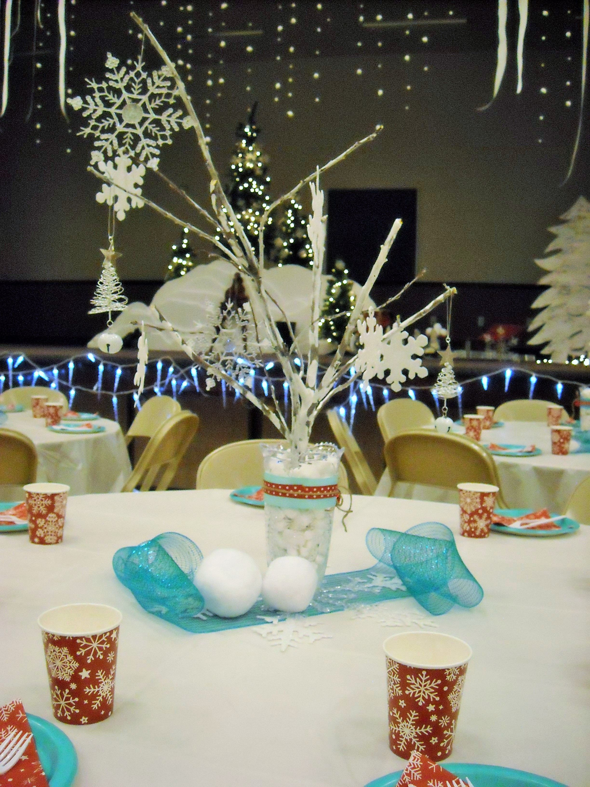 hyrum 9th ward sleigh ride winter wonderland center pieces 2015