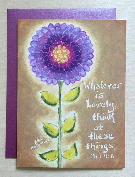 Think of Lovely Things Card