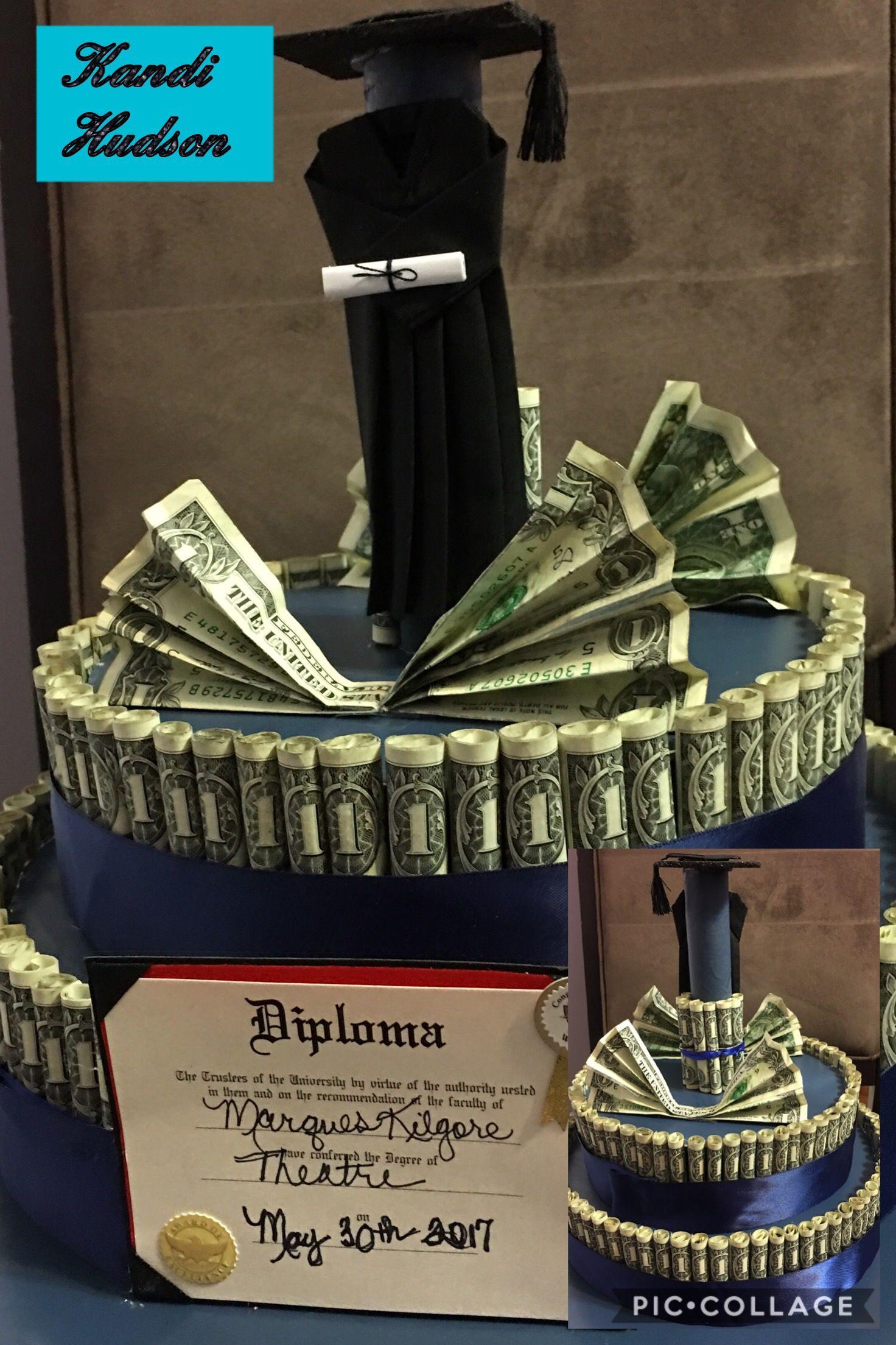 Custom made graduation money cake diy presents for boys