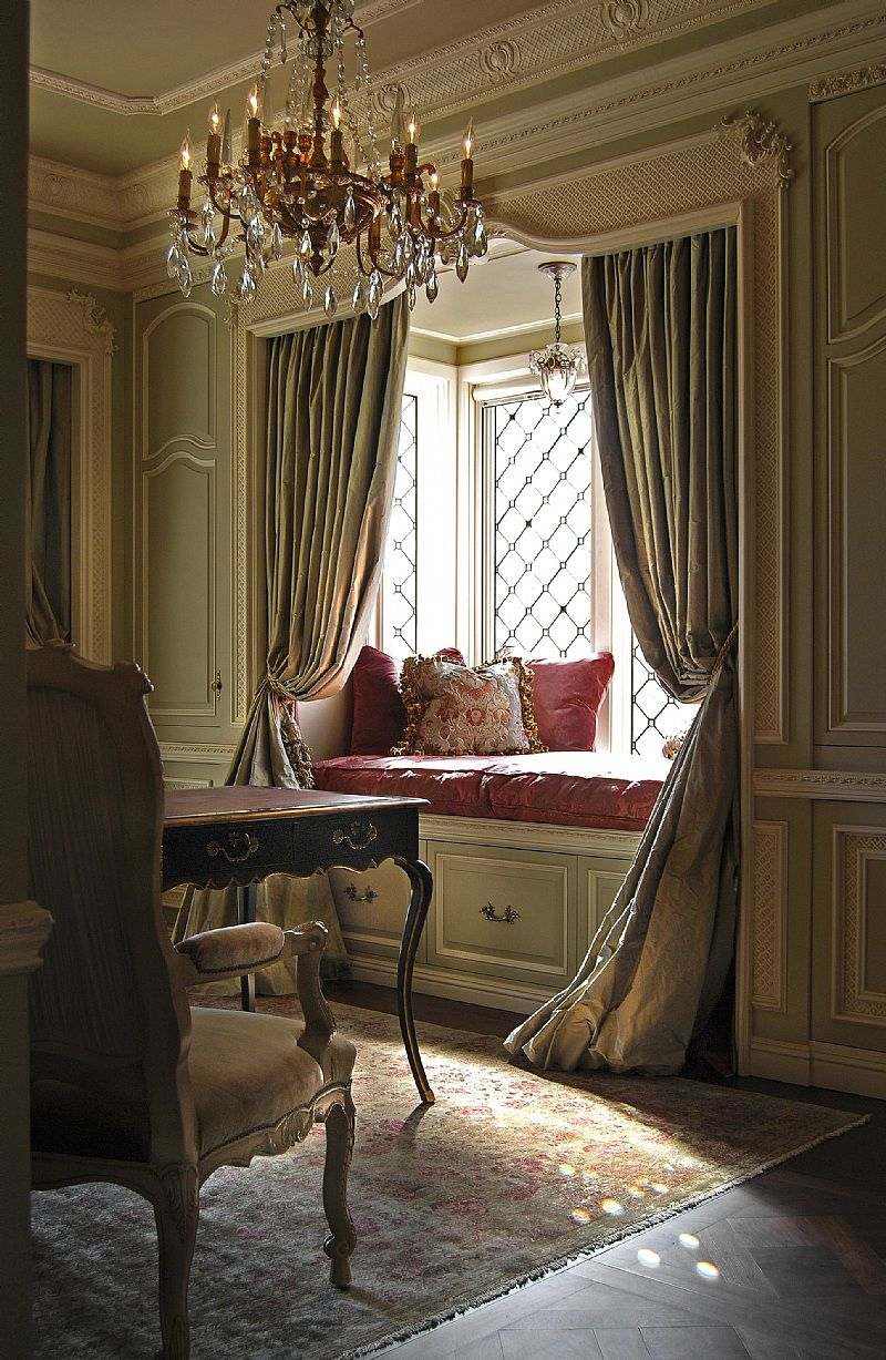 Window nook decorating ideas  i like how the curtains frame this nook  for the home  pinterest