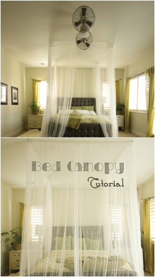 Sleep in Absolute Luxury with these 23 Gorgeous DIY Bed Canopy Projects -  Sleep in Absolute Luxury with these 23 Gorgeous DIY Bed Canopy Projects – DIY & Crafts  -