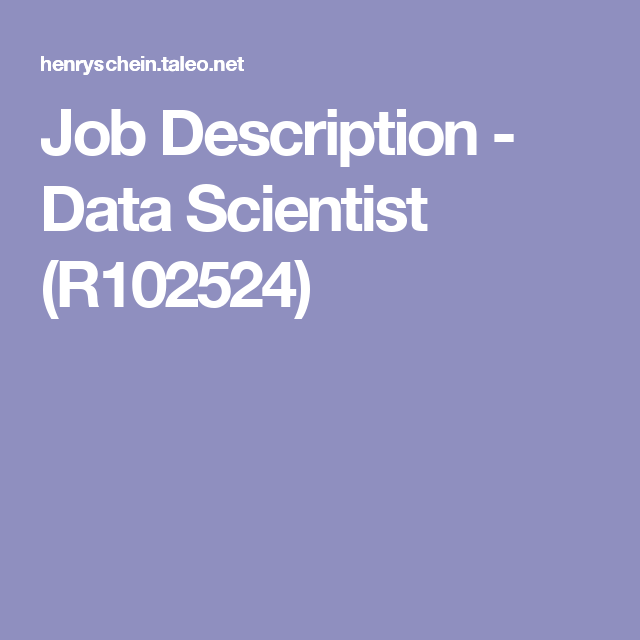 Job Description  Data Scientist R  Jobs