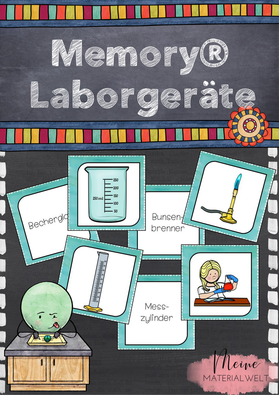 Laborgerate Memory In 2020 Unterrichtsmaterial Chemieunterricht Periodensystem