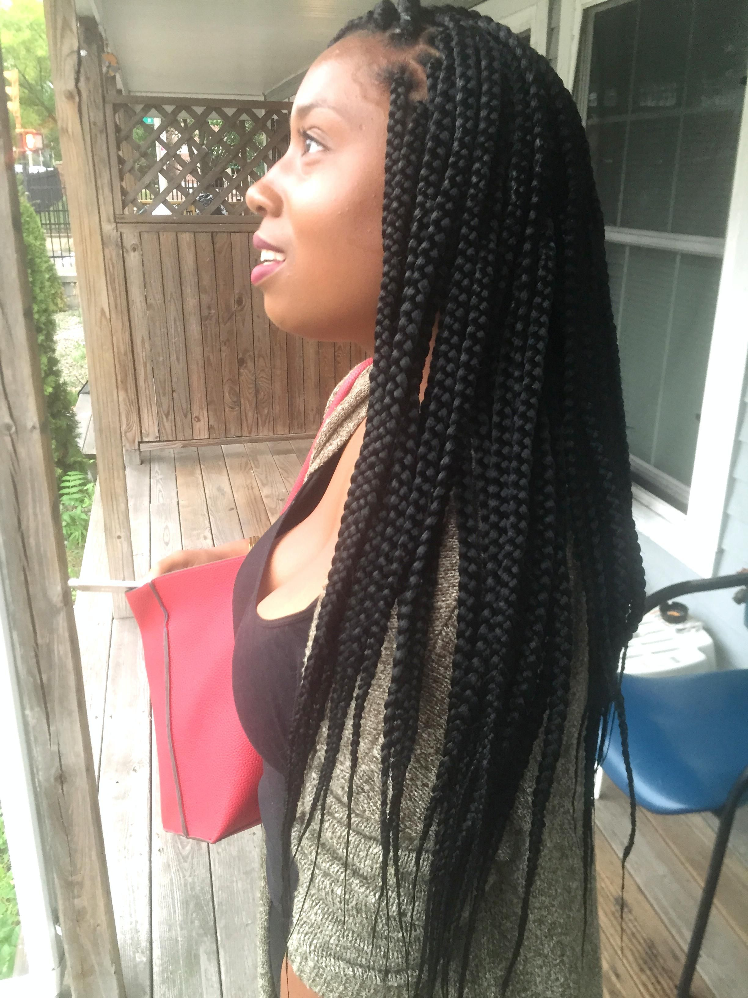 Medium Waist Length Box 2448 3264 H A I R Pinterest Box Braids Protective